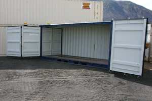 Bleekers side load roll off storage 20foot 300px
